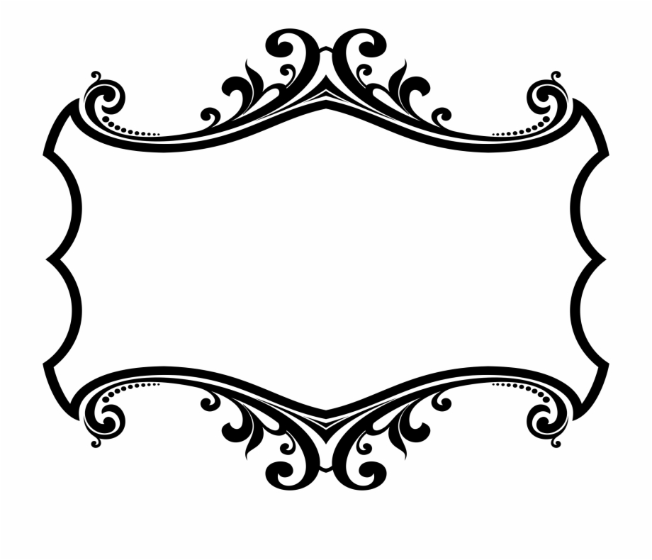 Free round ornamental line borders clipart free. Frames illustrations hd images