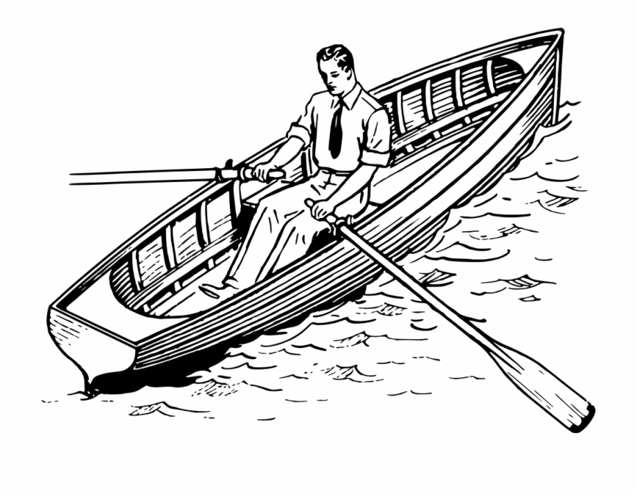 Free row boat clipart svg library download Rowboat - Rowing Boat Clipart Black And White Free PNG Images ... svg library download