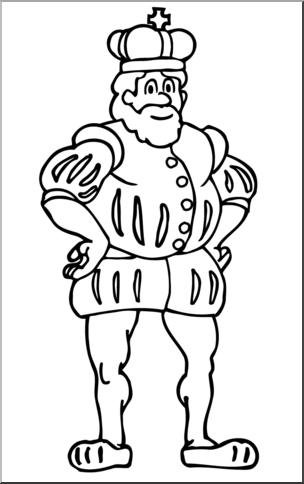 Clip art king b. Free royal family clipart black and white