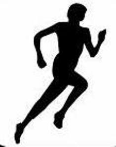 Free running clipart. Runner clip art cross
