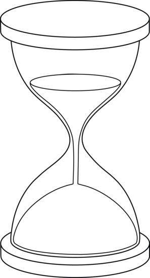 Free sand timer clipart. Hourglass lineart it s