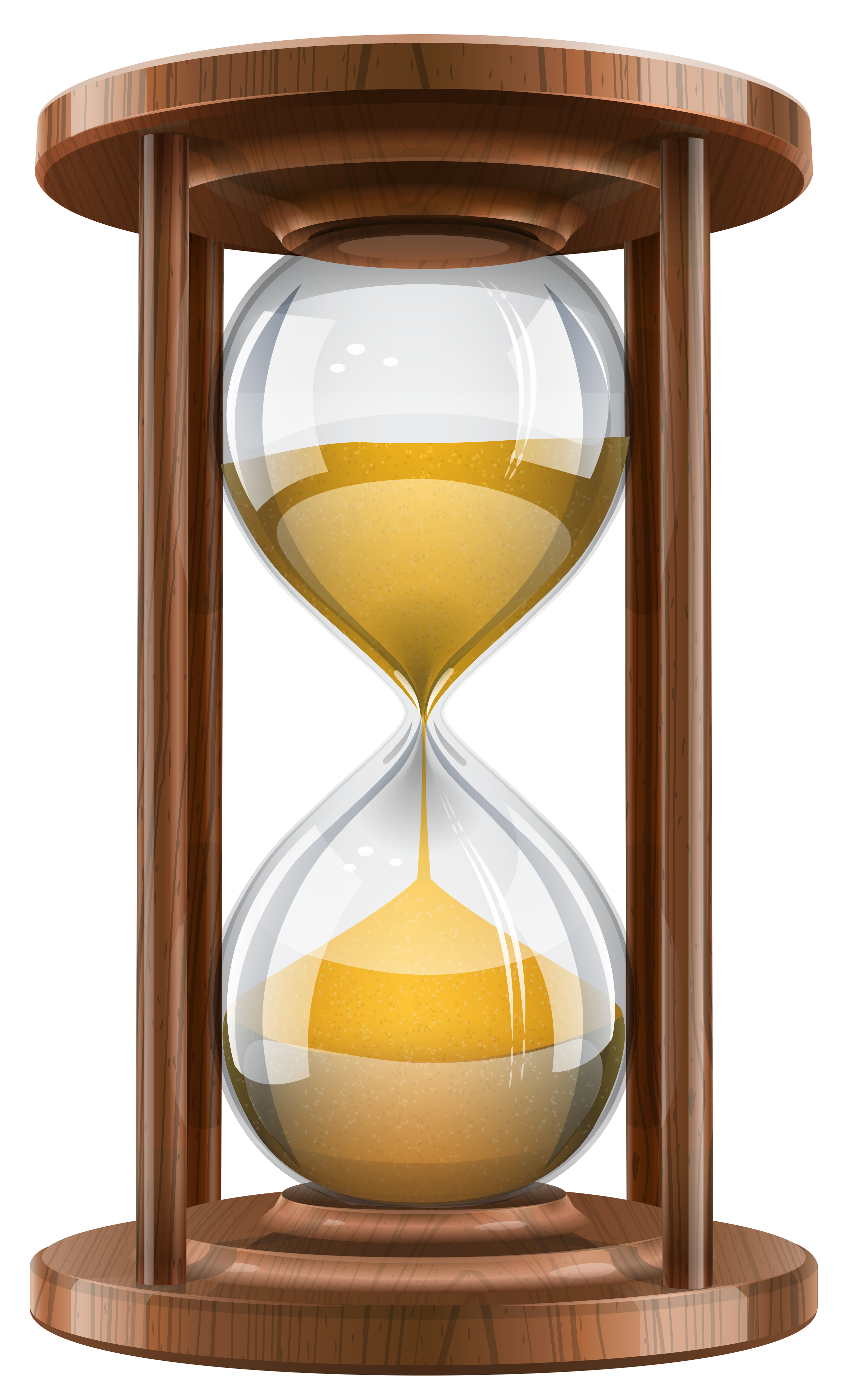 Clock png transparent images. Free sand timer clipart