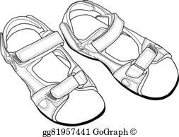 Free sandal clipart. Sandals clip art royalty