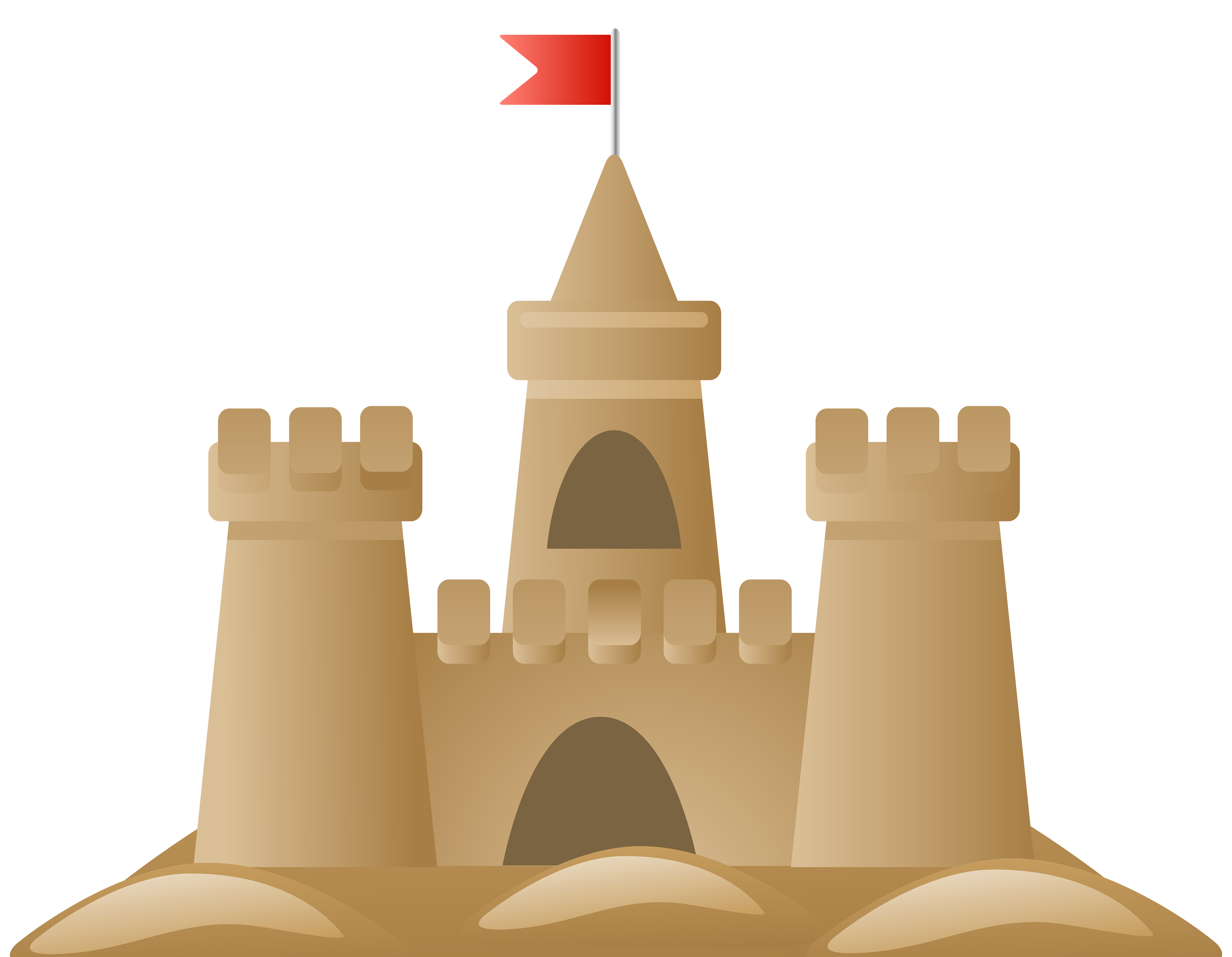 Images gallery for download. Free sandcastle clipart