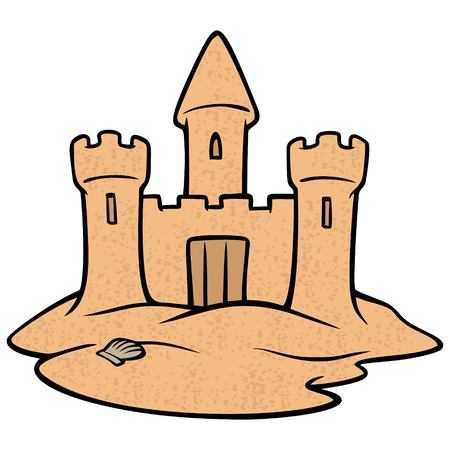 Free sandcastle clipart.  cliparts stock vector