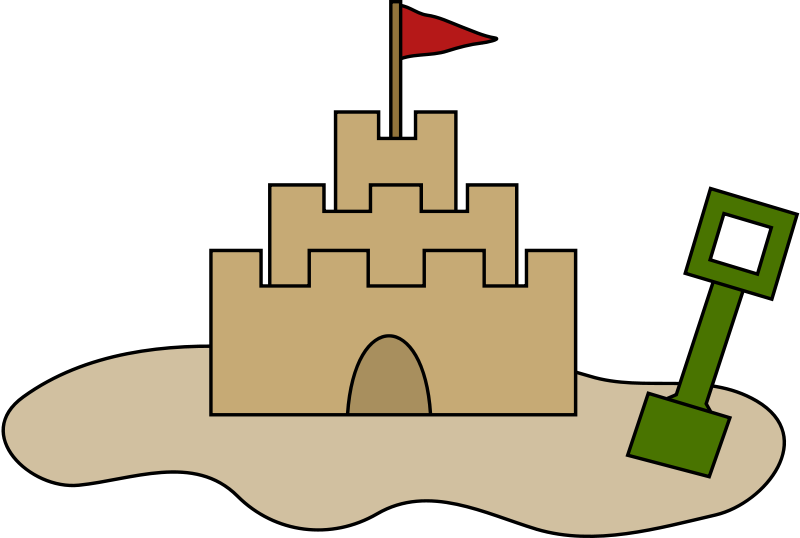 Sand castle laobc . Free sandcastle clipart