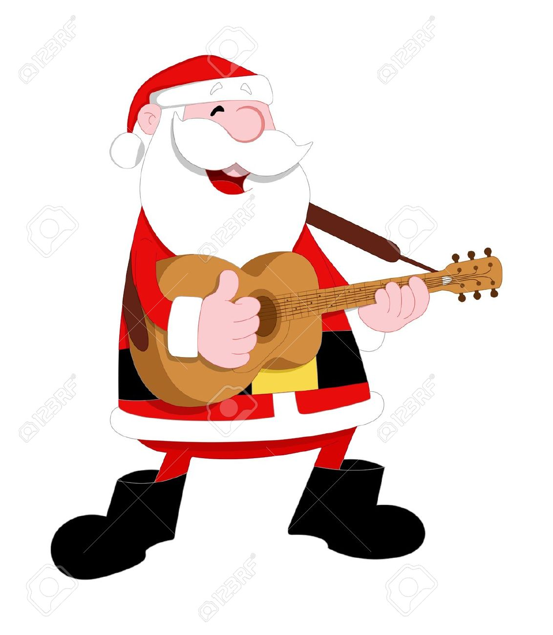 Free santa clipart jpg clip art freeuse stock Free santa playing a guitar clipart jpg - ClipartFest clip art freeuse stock