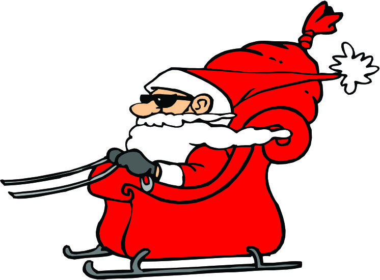 Clipart santa in sleigh clip black and white library Free Santa And His Sleigh Pictures, Download Free Clip Art, Free ... clip black and white library