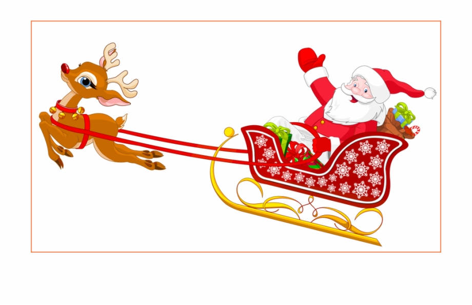 Free santa clipart with sleigh png library stock Png Royalty Free Stock Amazing Santa And Reindeer With - Santa Claus ... png library stock