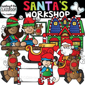 Free santa s workshop clipart graphic library Santa\'s Workshop Clip Art {Christmas Clip Art} graphic library