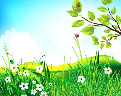Free scenery pictures clipart. Green and vector graphics