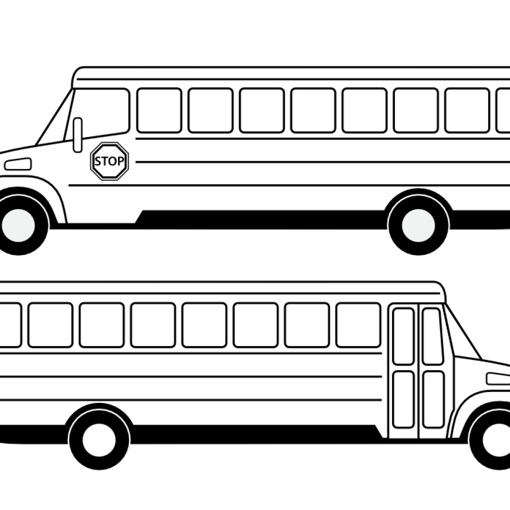Free school bus clipart black and white picture black and white School Bus Clipart Black And White mountain clipart hatenylo.com picture black and white