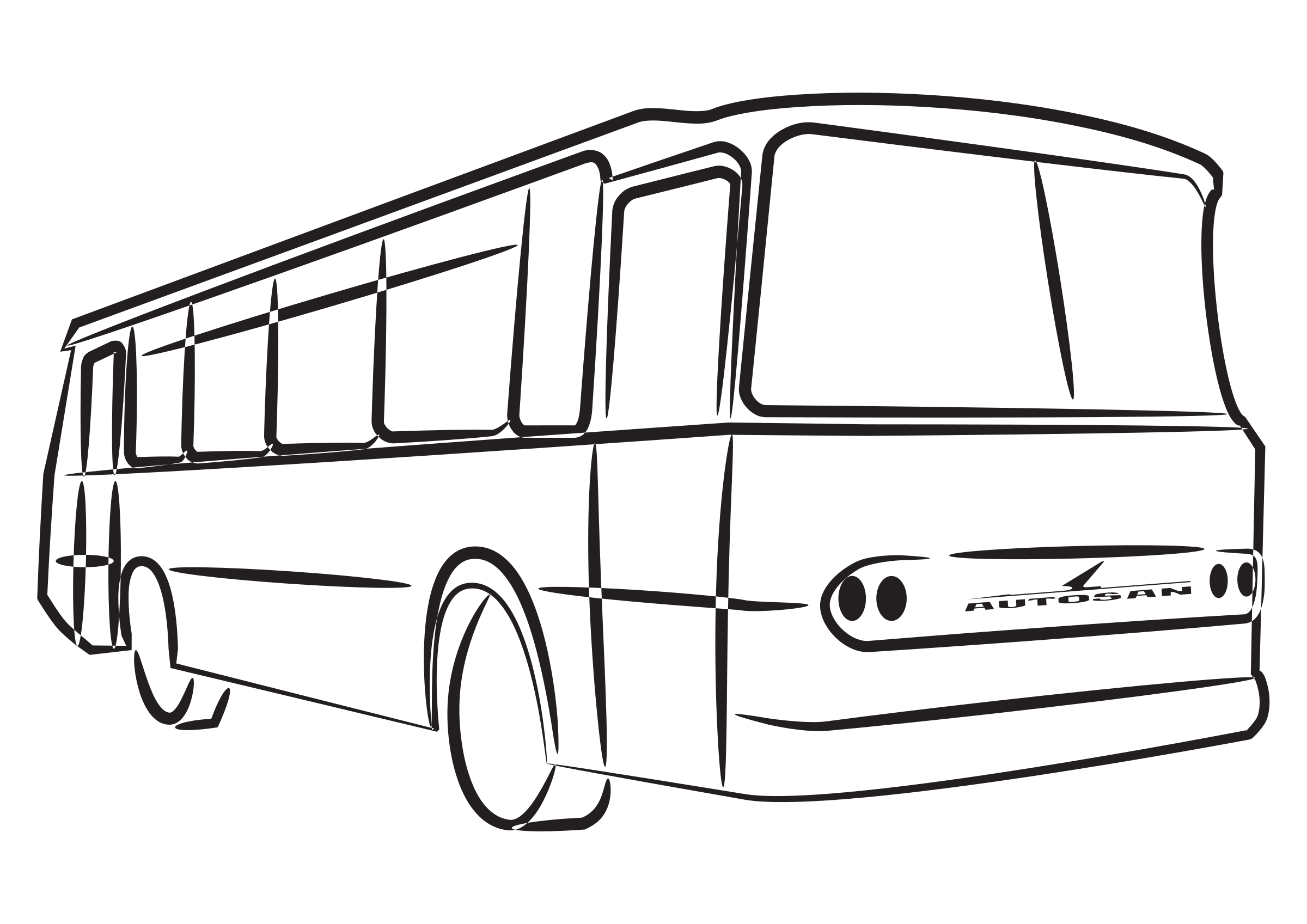 Free school bus clipart black and white jpg transparent stock Oakwood Primary School - Our Residential jpg transparent stock