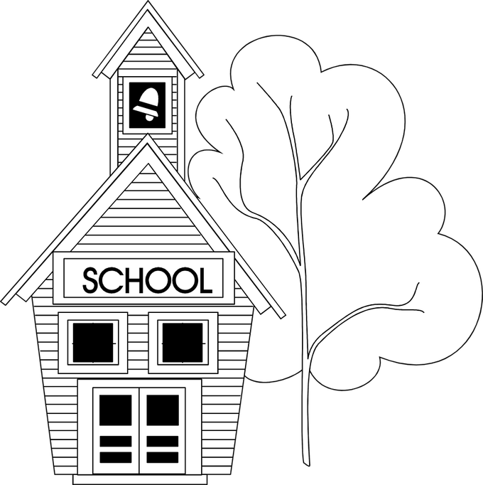 Free school clipart black and white banner transparent library School Pictures Black And White | Siewalls.co banner transparent library