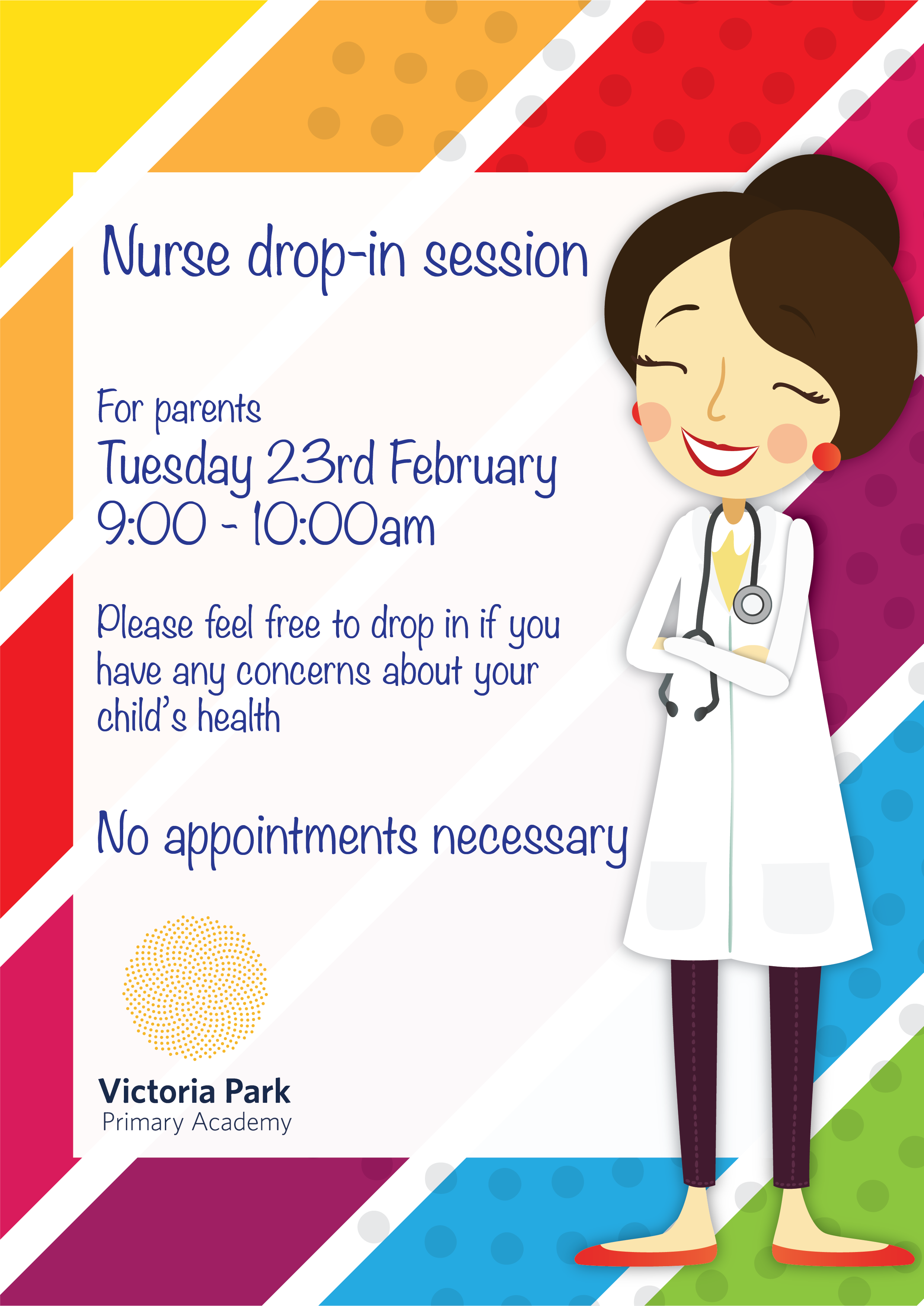 Free school nurse clipart png black and white library Nurse drop in session Feb 2016 | Victoria Park Academy png black and white library