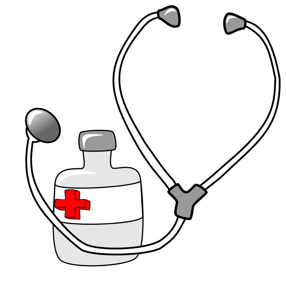 Free school nurse clipart image free doctor-tools-clipart-metalmarious_Medicine_and_a_Stethoscope.png ... image free