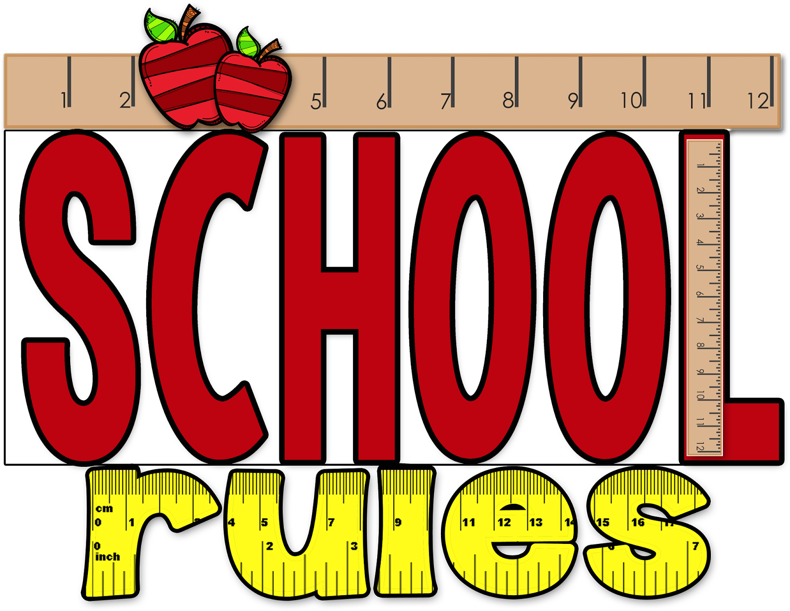 28+ Collection of School Rules Clipart | High quality, free cliparts ... clip black and white