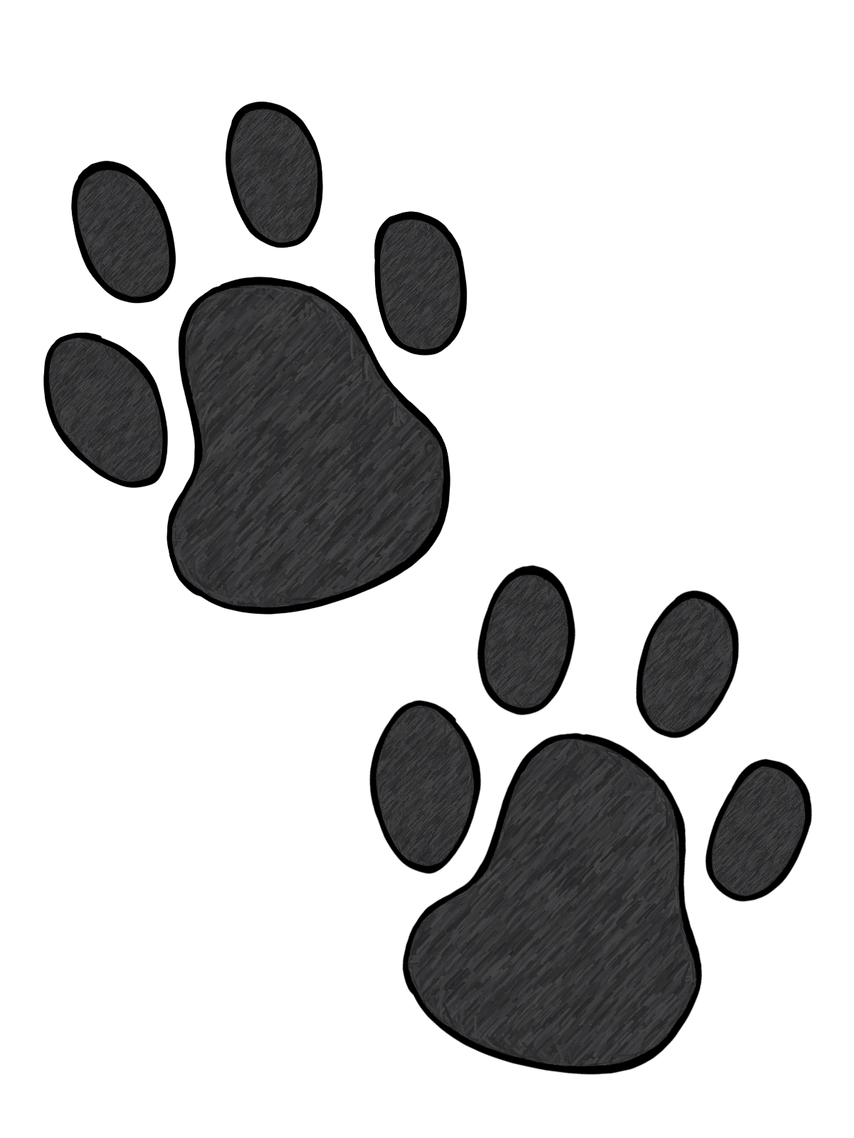 Free scroll heart clipart clip art black and white Paw print tattoos on dog paw prints scroll clipart 3 4 - WikiClipArt clip art black and white
