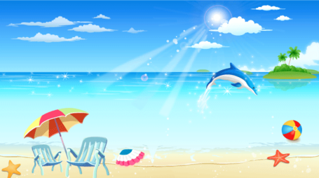 Resort and vector graphics. Free seaside clipart