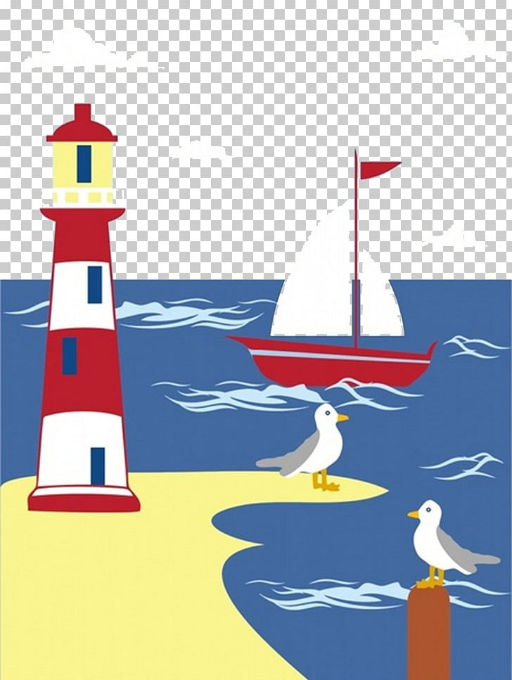 Free seaside clipart. Shore resort lighthouse png
