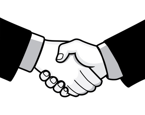 Laugphing and shaking hands clipart black an white svg transparent library Shake Hands Clipart Group with 53+ items svg transparent library