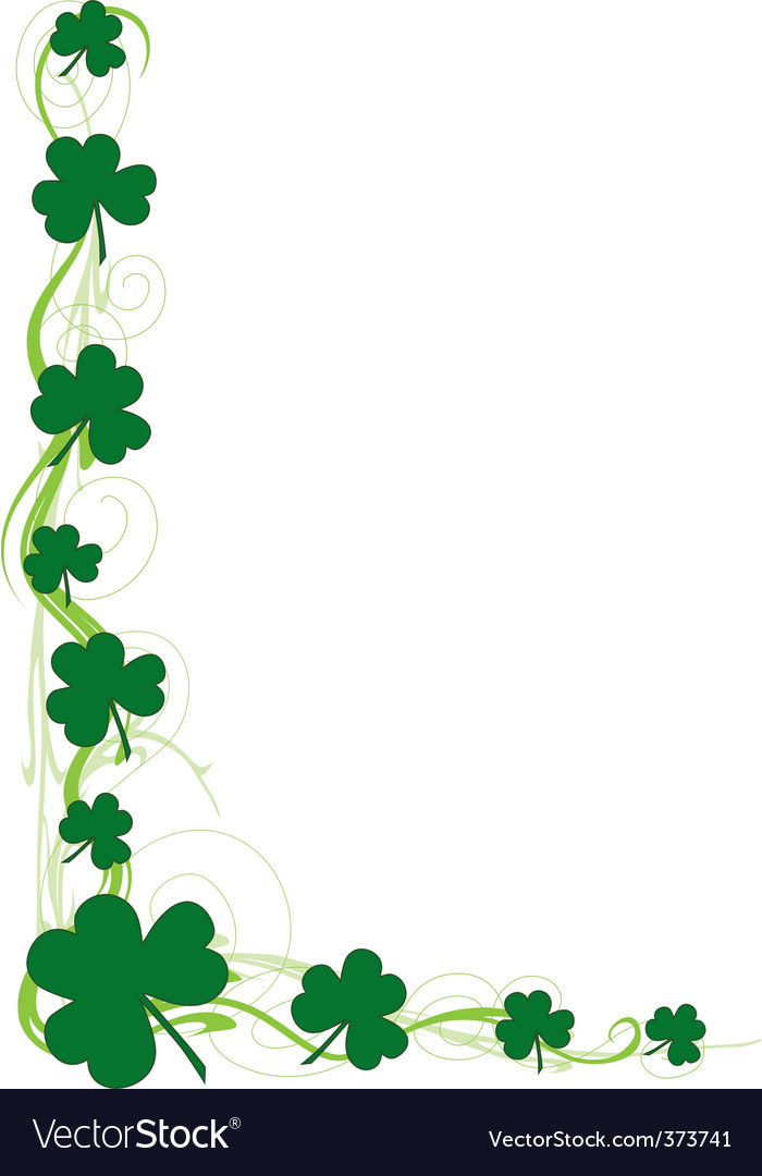 Shamrock frame clipart graphic stock Shamrock border graphic stock