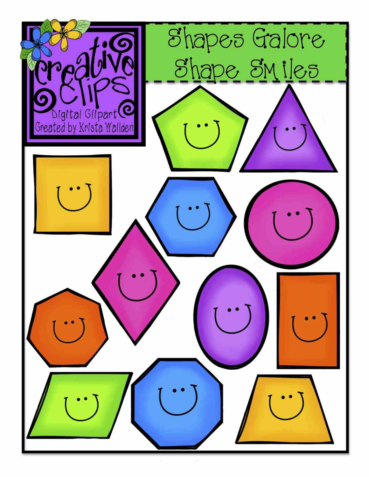 Cute shapes clipart image royalty free stock 58+ Free Clip Art Shapes | ClipartLook image royalty free stock