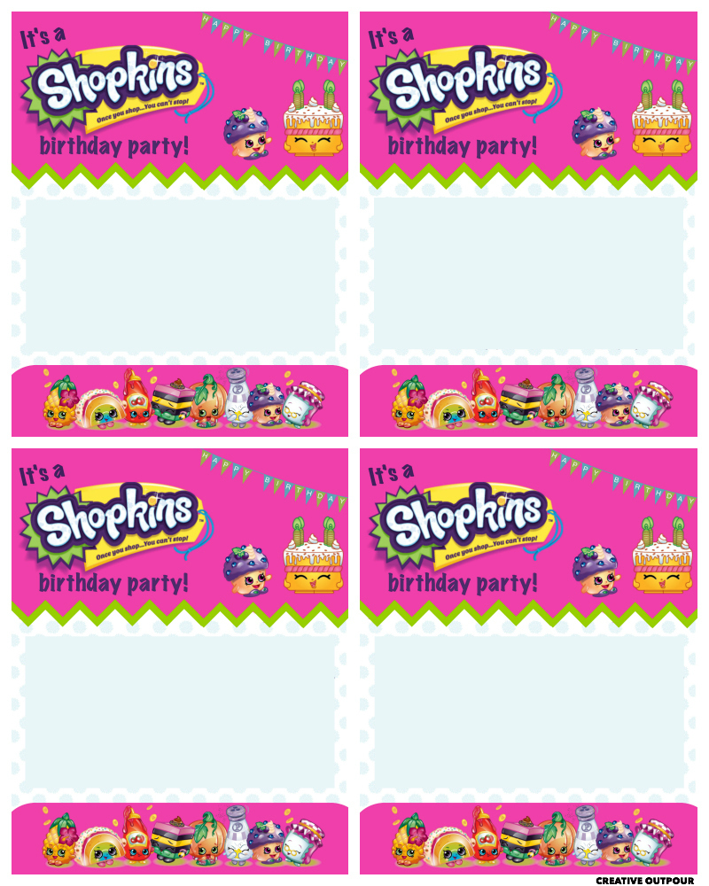 Free shopkins logo clipart png banner black and white library A Shopkins Birthday Party - Creative Outpour banner black and white library
