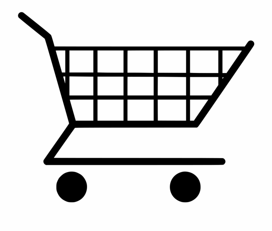 Free shopping cart clipart png black and white stock Trolley Vector Grocery - Clipart Shopping Cart, Transparent Png ... png black and white stock