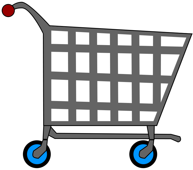 Free shopping cart clipart jpg free Free Clipart: Basic Shopping Cart | MGatESSInc jpg free