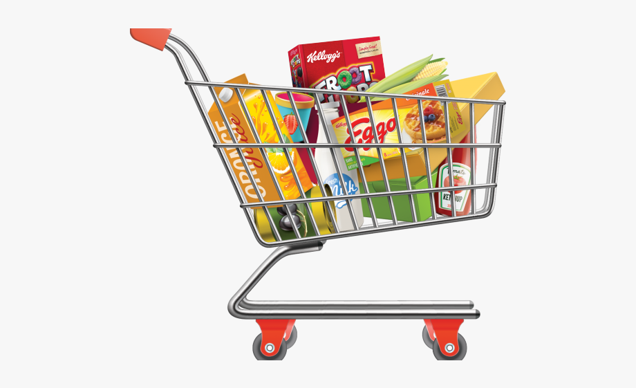 Free shopping cart clipart banner freeuse Cart Clipart Grocery Bag - Shopping Cart Png #1242601 - Free ... banner freeuse