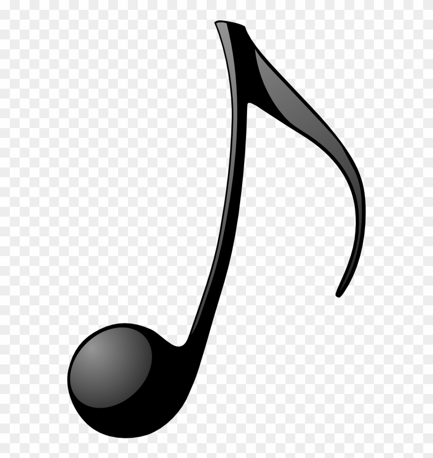 Free simple music black and white clipart banner library stock Free Note,music, Clip Art By Jean Victor Balin And - Simple Croche ... banner library stock