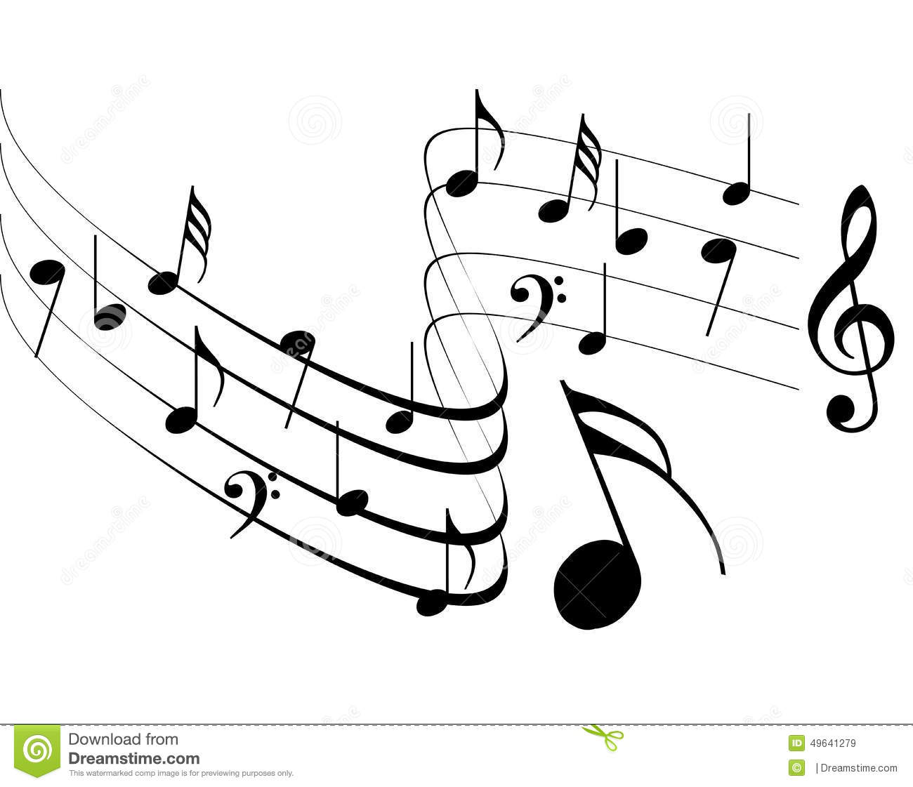 Free simple music black and white clipart svg free library Free Music Clipart Black And White svg free library