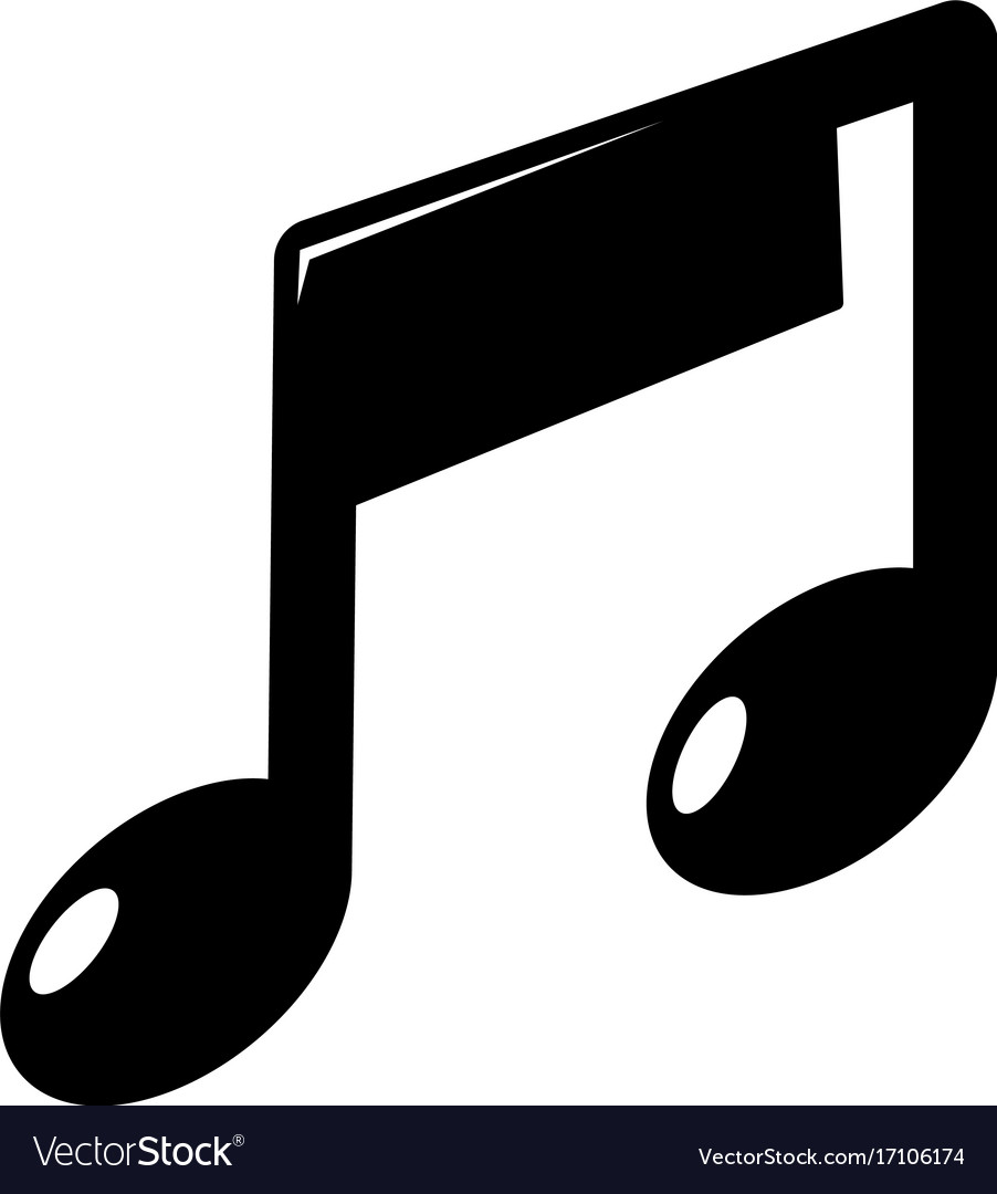 Free simple music black and white clipart vector royalty free Music note icon simple style vector royalty free