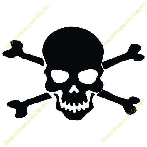 Free skull and crossbones with black background clipart. Cross bones download best