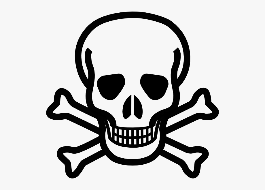 Info cliparts on . Free skull and crossbones with black background clipart
