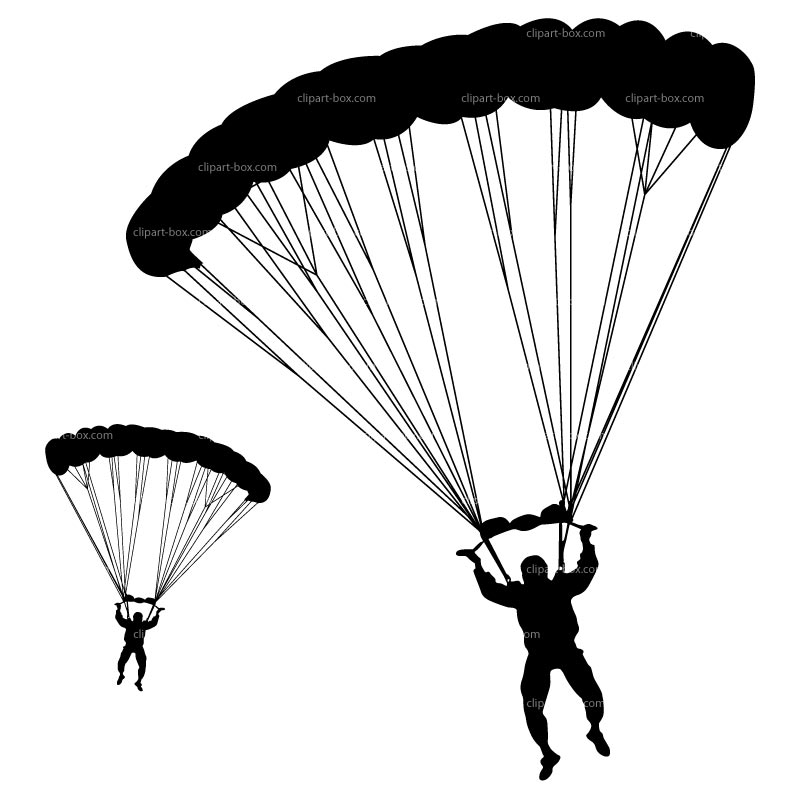 Free skydiving clipart. Parachuting cliparts download clip