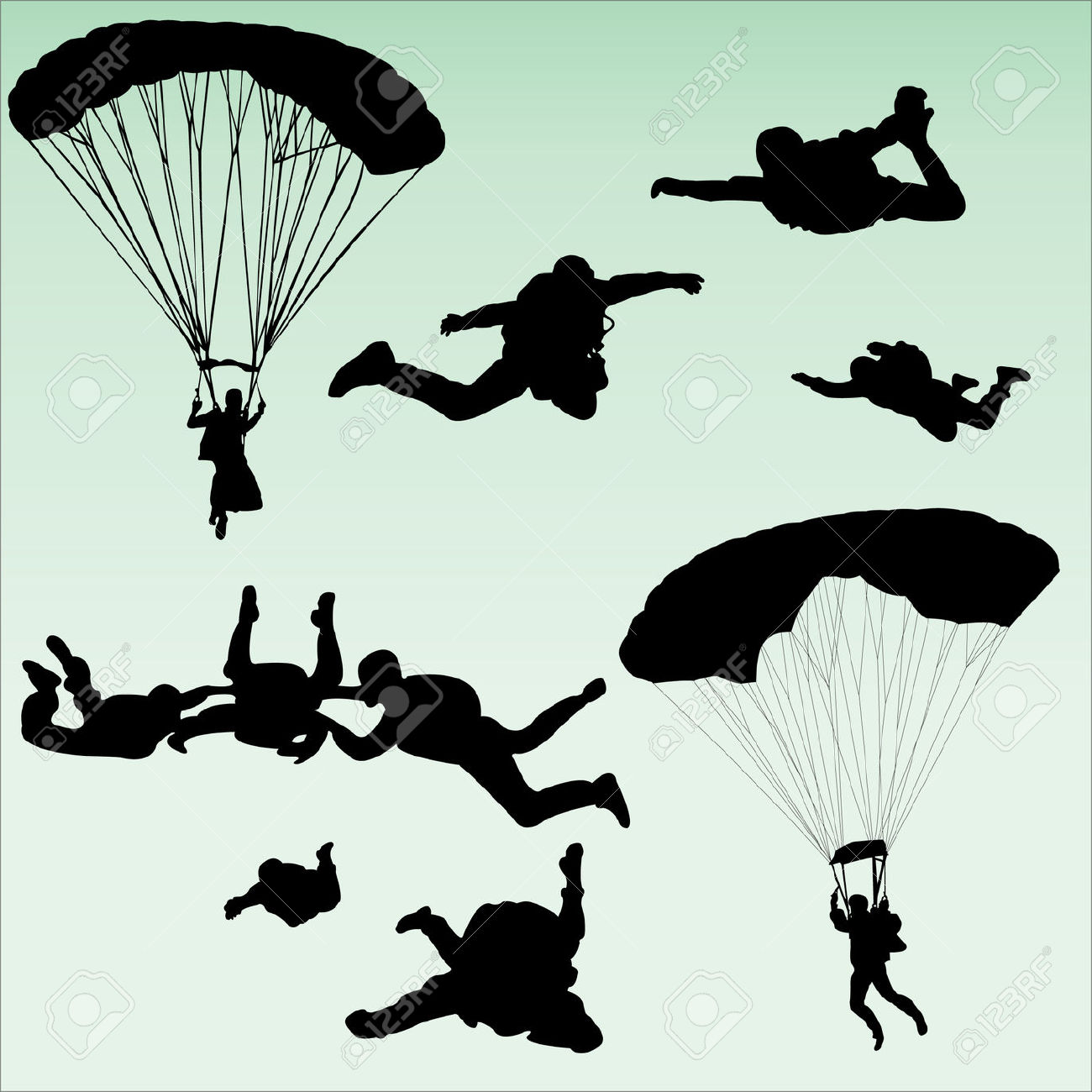 Parachuting cliparts download clip. Free skydiving clipart