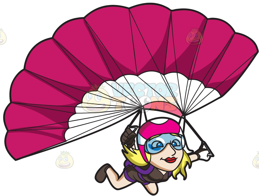 Skydiving cartoon clipart picture black and white download Parachutes Clipart | Free download best Parachutes Clipart on ... picture black and white download