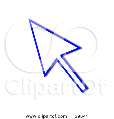 Royalty-Free (RF) Clipart Illustration of a Blue Pointing Cursor ... image freeuse library