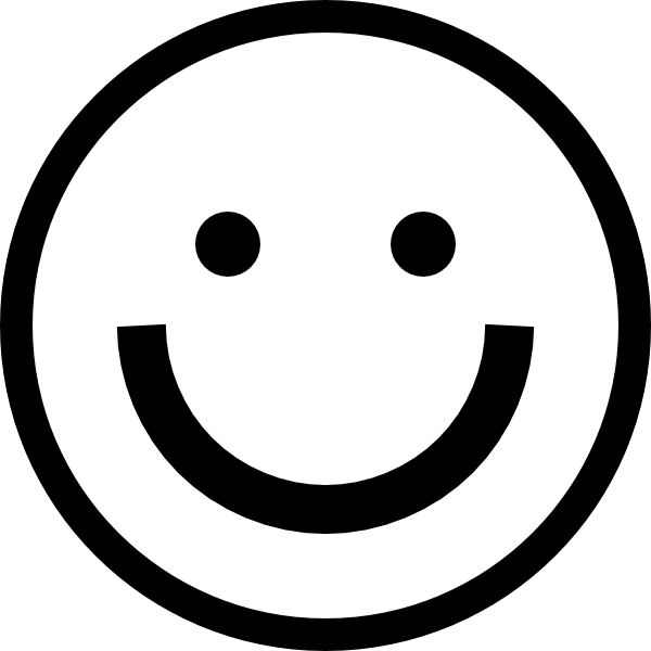 Black and white smiley face clipart clip black and white library Best Black And White Smiley Face #10719 - Clipartion.com clip black and white library