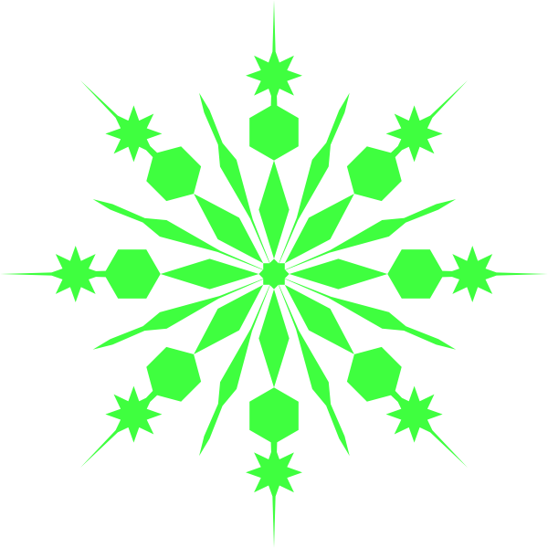 Free snowflake background clipart image free download Light Green Snowflake Clip Art at Clker.com - vector clip art online ... image free download