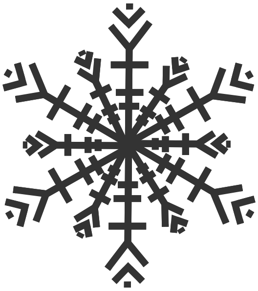 Grey Snowflake Clip Art at Clker.com - vector clip art online ... svg freeuse library
