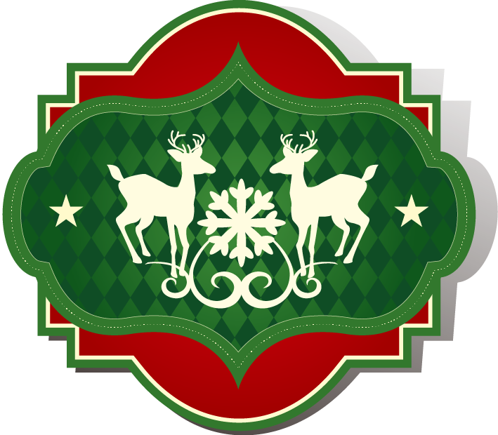 Free snowflake edge clipart image free library Green Download Snowflake - Painted red edge green background deer ... image free library