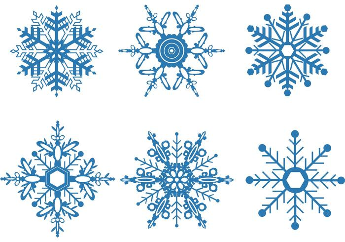 Free snowflake vector clipart. Set download vectors graphics