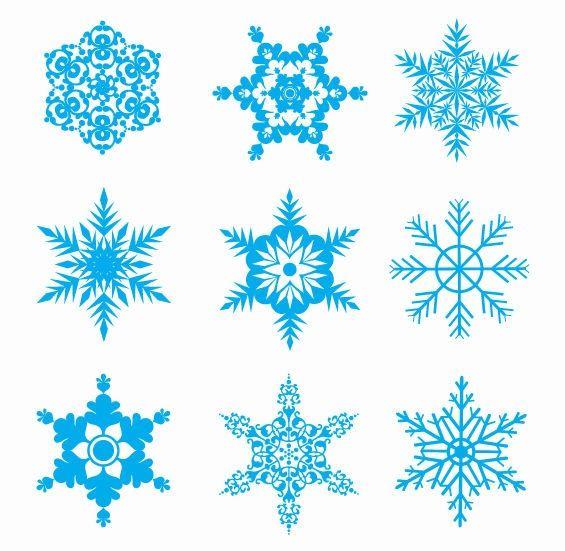 Flakes clipart clip art transparent download Snow Flakes Clip Art   Free Snowflakes Vector Set   Free Vector ... clip art transparent download