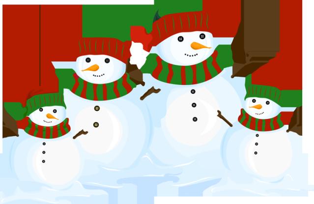 Snowman friends clipart