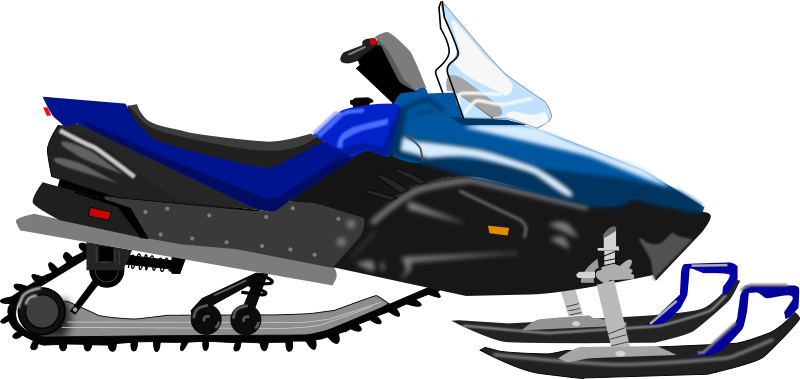 Free snowmobile clipart