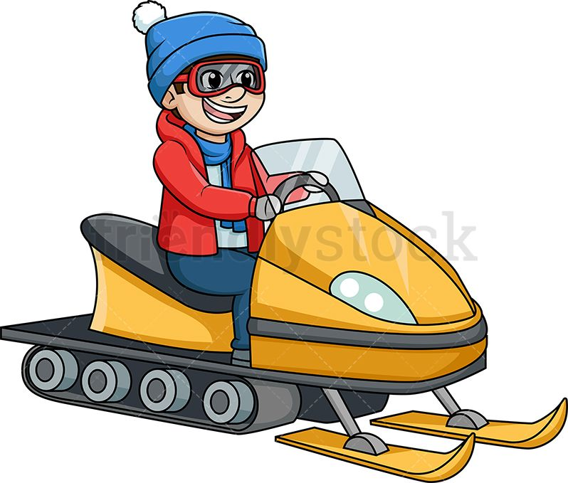 Free snowmobile clipart vector freeuse library Man Riding A Snowmobile | Christmas Vector Clipart | Clip art ... vector freeuse library
