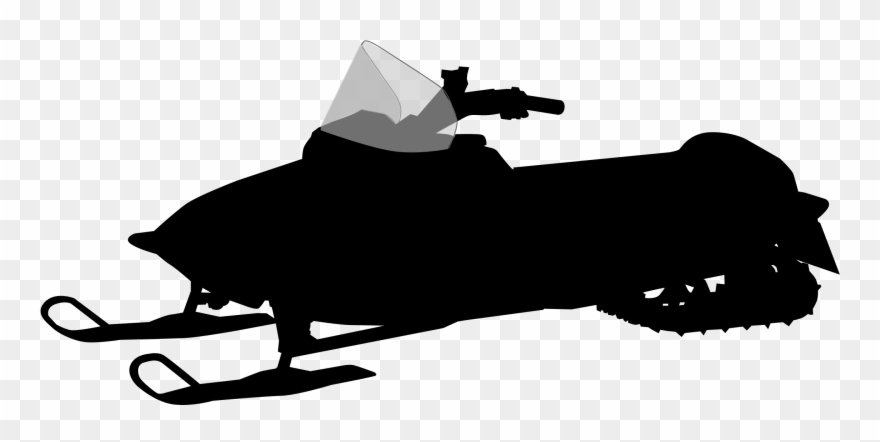 Free snowmobile clipart graphic free Free Snowmobile Silhouette - Snowmobile Clipart - Png Download ... graphic free